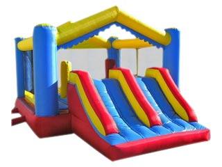 Castillo Hinchable Nikita con Doble Tobogán interiores y obstáculos en PVC 20m2  Oferta limitada