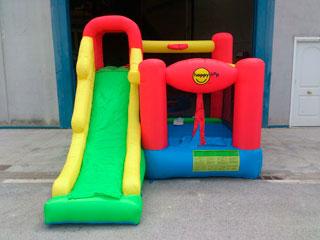 Castillo Hinchable Play Center 6 actividades en 1 con amplio tobogán