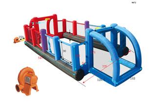 Nueva Estructura Hinchable Happy hop Multipista-Multideporte + con red de Voleibol.   Ultimas  unidades