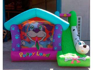 Gran Castillo Hinchable happy hop Puppyland 12 m2