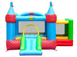 Mini Castillo Hinchable Happyhop Palacete con piscina de bolas y tobogán