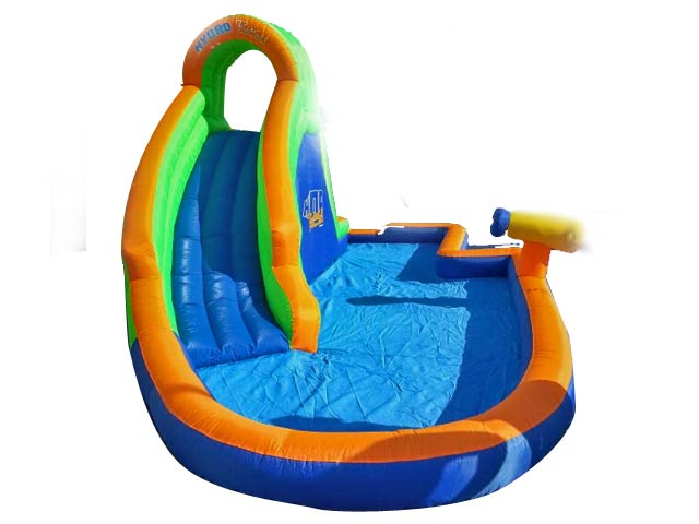 Castillo hinchable super tobog n acuatico y piscina for Hinchables de agua para piscinas