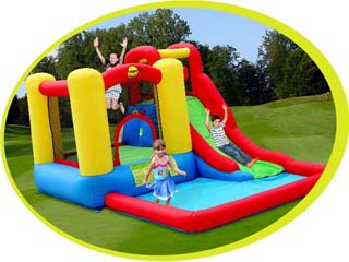 Castillo Happy hop hinchable acuático Aventura Multizone Happy Hop (uso particular)