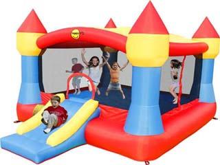 Oferta limitada!Gran Castillo Hinchable Happyhop Súper XXL 20m2 con rampa tobogán