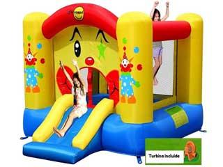 Mini Castillo Hinchable Happy Hop Payasito 6,75 m2 con tobogán